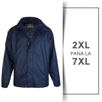 Jacheta Impermeabila Bleumarin - NAVY RAIN JACKET - 2XL 3XL 4XL 5XL 6XL 7XL