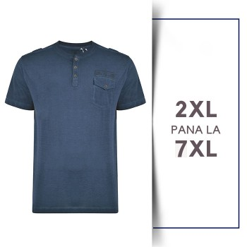 Tricou din bumbac Grandad Navy Industry - T-SHIRT GRANDAD NAVY INDUSTRY - 2XL 3XL 4XL 5XL 6XL 7XL