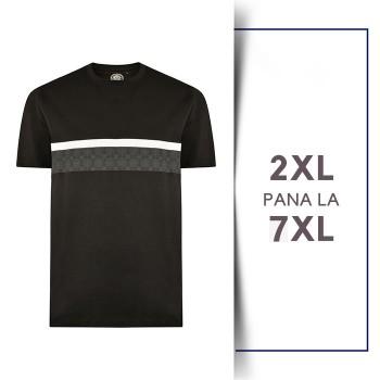 Tricou din bumbac Printed Tee Negru - T-SHIRT PRINTED TEE BLACK - 2XL 3XL 4XL 5XL 6XL 7XL