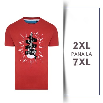 Tricou din bumbac ROCK AND ROLL - T-SHIRT ROCK AND ROLL SPICE - 2XL 3XL 4XL 5XL 6XL 7XL